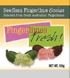 Fresh Green Finger lime caviar