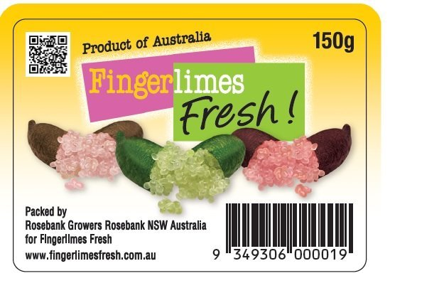 Finger limes mixed punnet 150g